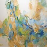 Akt grün (Nina) 80x100