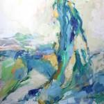 Akt grün-blau (Rada) 80x80