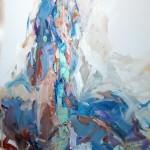 Blau sitzend (Rada) 80x80
