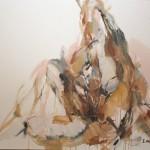 Braun sitzend (Elisa) 80x100