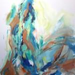 Dunkelgrün sitzend (Elisa) 80x100