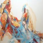 Mit blauem Tuch (Lisa) 80x100