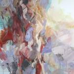 Stehende in Rot (Elisa) 80x100