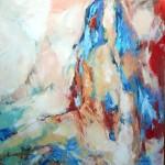 Weiblicher Akt sitzend (Nina) 80x80