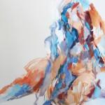 Akt sitzend (Elisa) 80x120