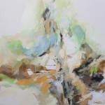 Komposition in Grün 100x100