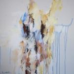 Rückenakt hellblau (Elisa) 100x100