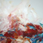 Rot liegend (Elisa) 80x100