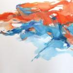Sitzende orange-blau (25.02.20) 80x100