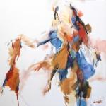 Stehende weibliche Figur (Elisa) 100x100