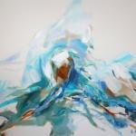 Türkis-blau liegend (Elisa) 80x100